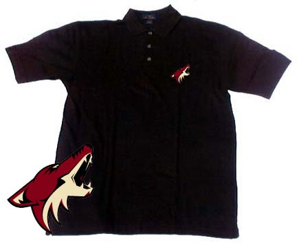 Phoenix Coyotes Men's Black Classic Polo Shirt from Antigua