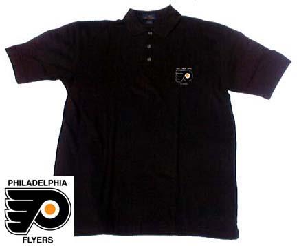 Philadelphia Flyers Men's Black Classic Polo Shirt from Antigua