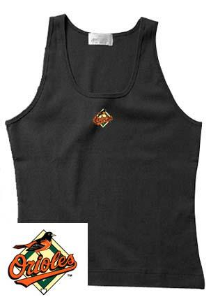 Baltimore Orioles Black Dash Women's Tank Top from Antigua