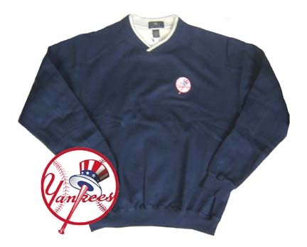 New York Yankees Contender Long Sleeve Fleece Pullover from Antigua
