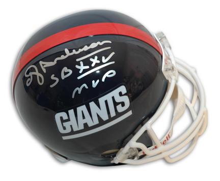 "Ottis ""OJ"" Anderson Autographed New York Giants Riddell Replica Helmet Inscribed with ""SB XXV MVP"""