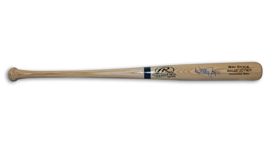 Wally Joyner Autographed Rawlings Big Stick Baseball Bat (With His Name Printed On The Bat) Sports Gear