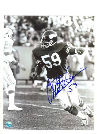 "Matt Blair Minnesota Vikings Autographed Black and White 8"" x 10"" Photograph (Unframed)"