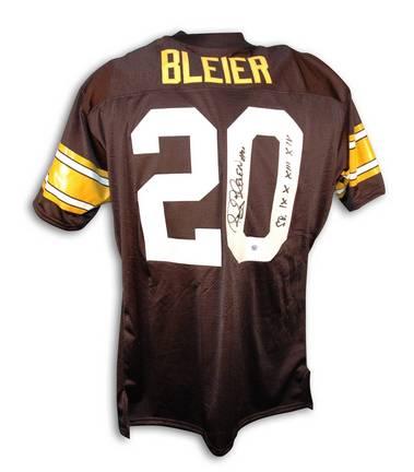 "Rocky Bleier Pittsburgh Steelers Autographed Throwback NFL Football Jersey Inscribed ""SB IX X XIII XIV"" (Black"