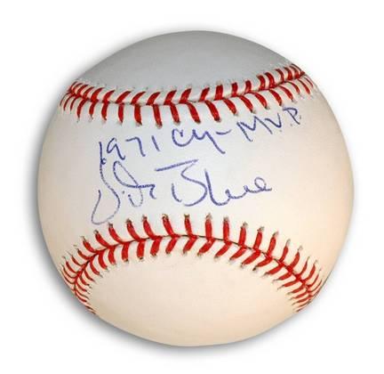 "Vida Blue Autographed Baseball Inscribed with ""1971 CY-MVP"""