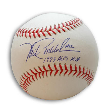Mike Boddicker Autographed Baseball with 1983 ALCS MVP Inscription