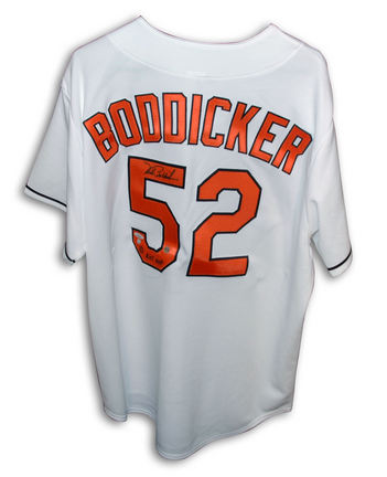 """Mike Boddicker Autographed Baltimore Orioles Majestic White Jersey with """"83 ALCS MVP"""" Inscription"""