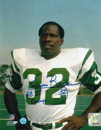 "Emerson Boozer New York Jets Autographed 8"" x 10"" Unframed Photograph Inscribed with ""SB III Champs"""