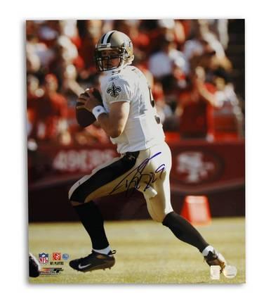 """Drew Brees New Orleans Saints Autographed 16"""" x 20"""" Unframed Photograph"""