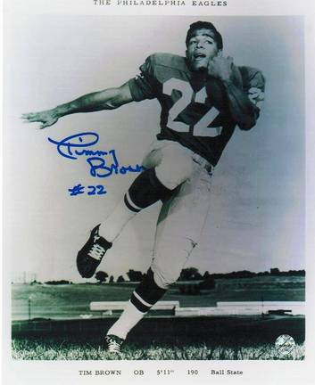 """Timmy Brown Philadelphia Eagles Autographed Pose 8"""" x 10"""" Unframed Photograph"""