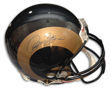 Isaac Bruce Autographed St. Louis Rams Riddell Pro Line Helmet