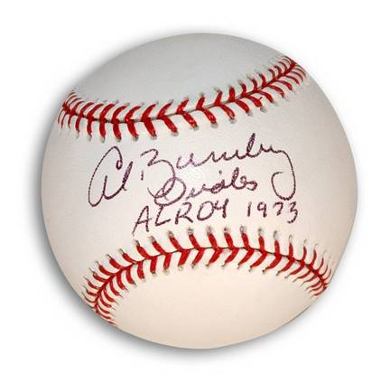 "Al Bumbry Autographed Baseball Inscribed with ""AL ROY 1973"""