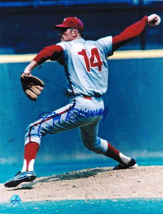 "Jim Bunning Autographed ""Pitching"" Philadelphia Phillies 8"" x 10"" Photo"