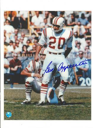 """Gino Cappelletti New England Patriots Autographed 8"""" x 10"""" White Jersey Photograph (Unframed)"""