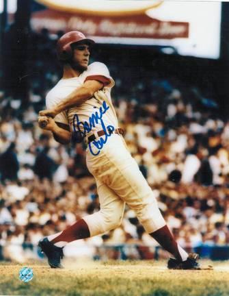 "Bernie Carbo Autographed ""Swing"" Cincinnati Reds 8"" x 10"" Photo"
