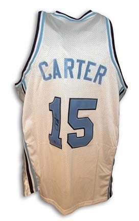 Vince Carter Autographed North Carolina Tar Heels White Jersey