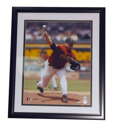 """Roger Clemens Houston Astros Autographed Framed 16"""" x 20"""" Photograph"""