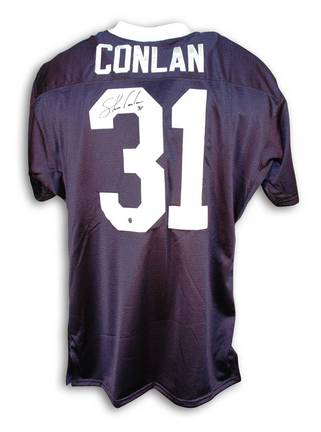Shane Conlan Autographed Custom Football Jersey (Navy Blue with White Collar)