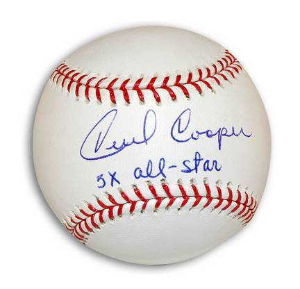 """Cecil Cooper Autographed MLB Baseball Inscribed """"5X All-Star"""""""