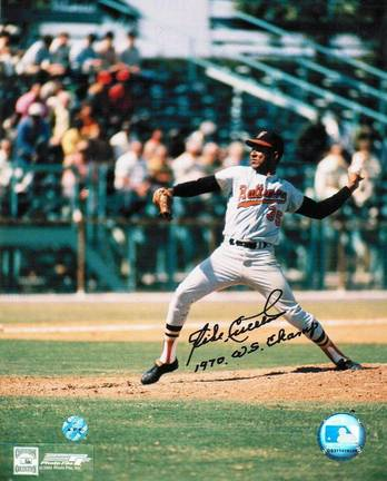 "Mike Cuellar Baltimore Orioles Autographed in Black 8"" x 10"" Unframed Photograph Inscribed with ""1970 WS"