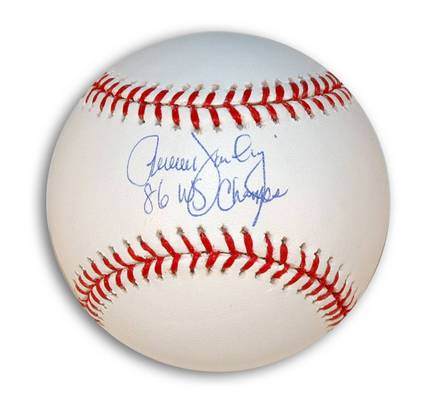 """Ron Darling Autographed MLB Baseball Inscribed with """"86 WS Champs"""""""