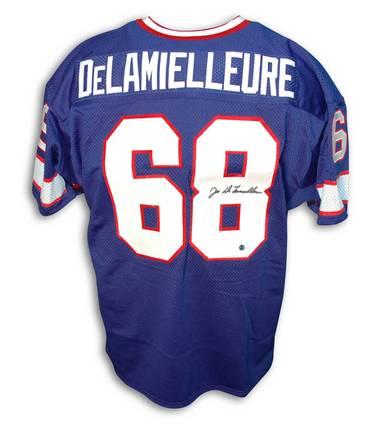 Joe Delamielleure Buffalo Bills Autographed Throwback NFL Football Jersey (Blue)