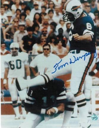 "Tom Dempsey Buffalo Bills Autographed 8"" x 10"" Unframed Photograph"