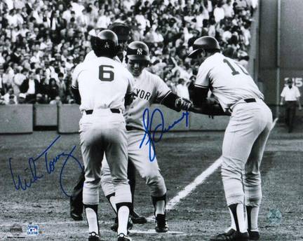 """Bucky Dent Autographed and Mike Torrez Dual Signed 8"""" x 10"""" Photo"""