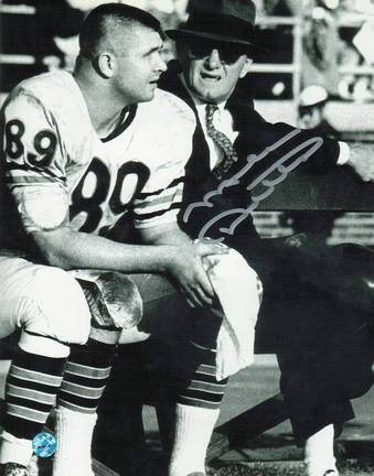 """Autographed Mike Ditka  """"With Halas """" Chicago Bears 8 """" x 10 """" Photo ."""