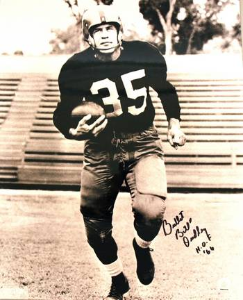 """Bill """"Bullet"""" Dudley Autographed Pittsburgh Steelers 16"""" x 20"""" Photo - Inscribed """"HOF 66"""""""