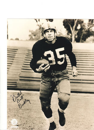 """Bullet Bill Dudley Pittsburgh Steelers Autographed 8"""" x 10"""" Photograph Inscribed with """"Bullet Bill"""""""