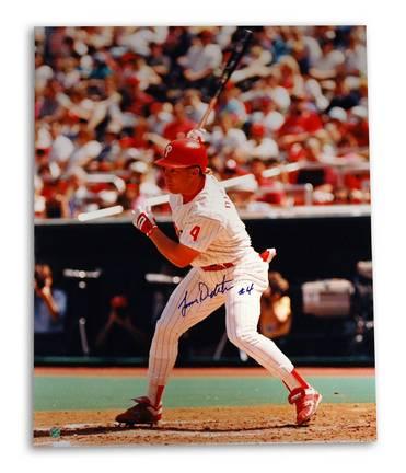 Lenny Dykstra Philadelphia Phillies Autographed 16