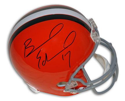 Braylon Edwards Autographed Cleveland Browns NFL Riddell Replica Full Size Helmet