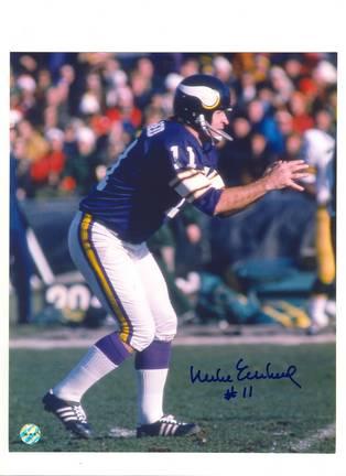 "Mike Eischeid Minnesota Vikings Autographed 8"" x 10"" Photograph (Unframed)"