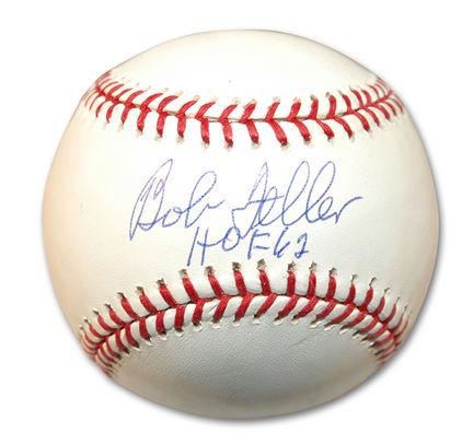 "Bob Feller Autographed Baseball Inscribed with ""HOF 62"""