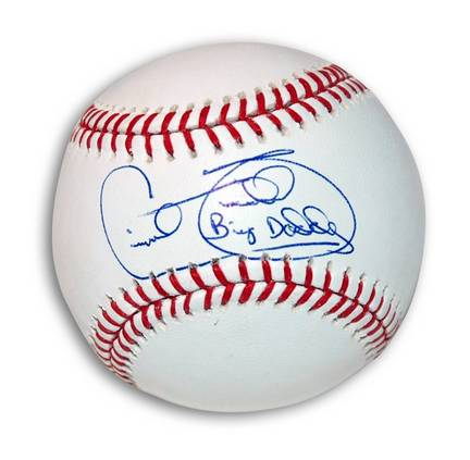 """Cecil Fielder Autographed MLB Baseball Inscribed with """"Big Daddy"""""""