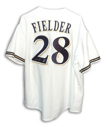 Prince Fielder Autographed Milwaukee Brewers White Majestic Baseball Jersey