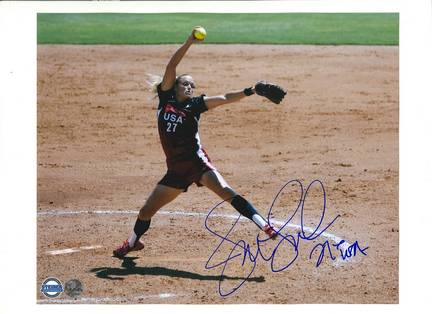 """Jennie Finch Autographed 8"""" x 10"""" Photographs Inscribed """"Team USA"""" (Unframed)"""
