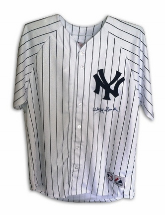 Whitey Ford New York Yankees Autographed Majestic Pinstripe Baseball Jersey