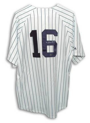 Whitey Ford New York Yankees Autographed MLB Baseball Jersey (Pinstripe)