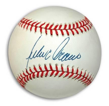 Julio Franco Autographed American League Baseball
