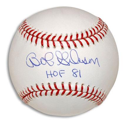 "Bob Gibson Autographed Baseball Inscribed with ""HOF 81"""