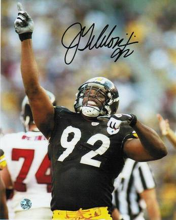 """Jason Gildon Pittsburgh Steelers Autographed 8"""" x 10"""" Pointing Photograph (Unframed)"""