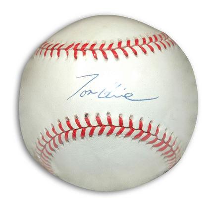 Tom Glavine Autographed Baseball