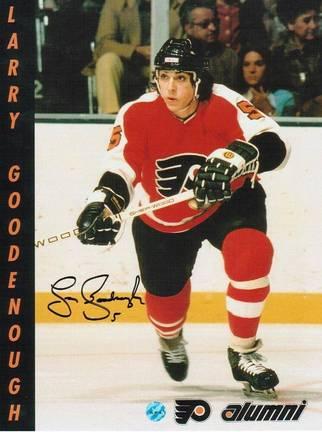 "Larry Goodenough Philadelphia Flyers Autographed 8"" x 10"" Photograph (Unframed)"