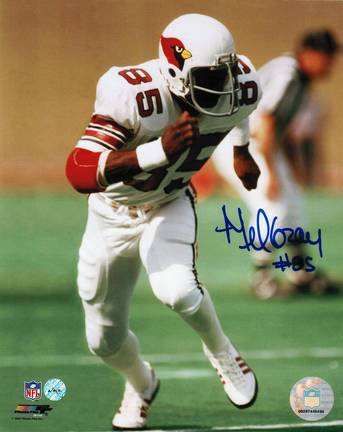 "Mel Gray Autographed ""Running"" St. Louis Cardinals (Football) 8"" x 10"" Photo"