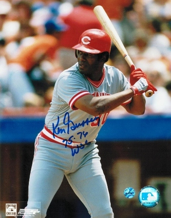 "Ken Griffey Sr. Cincinnati Reds Autographed 8"" x 10"" ""At the Plate"" Unframed Photograph Inscribed &q"