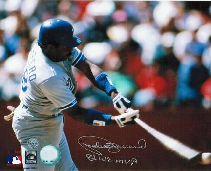 """Pedro Guerrero Los Angeles Dodgers Autographed 8"""" x 10"""" Horizontal Photograph Inscribed with """"80 WS MVP&q"""