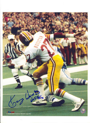 """Kenny Houston Washington Redskins Autographed 8"""" x 10"""" Tackle Photograph Inscribed with """"HOF 86"""" (Un"""