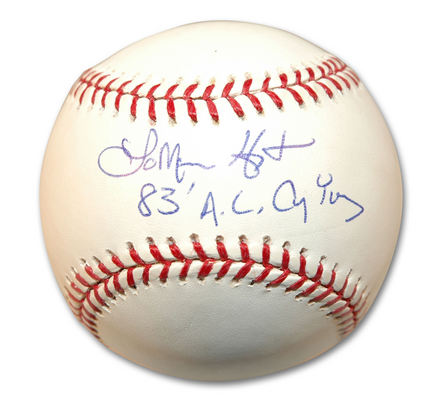 """LaMarr Hoyt Autographed MLB Baseball Inscribed with """"83 AL Cy Young"""""""